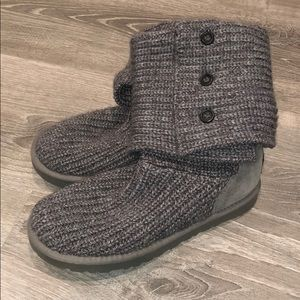 Ugg Cardy button detailed knit boots/ booties